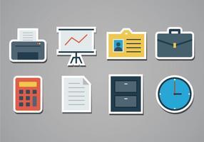 Gratis Office Sticker Pictogrammen vector