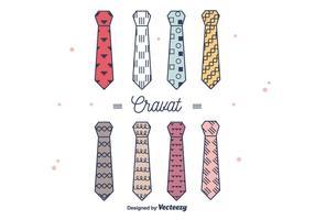 Hipster stijl cravat vector
