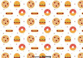 Platte Voedselpatroon vector