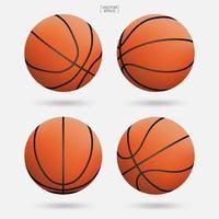 3D basketbal bal collectie vector