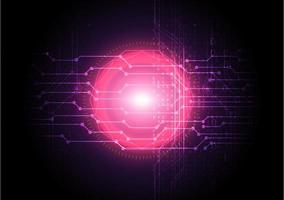 abstracte digitale netwerktechnologie achtergrond met roze gloed