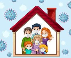 blijf thuis om coronavirus te voorkomen vector