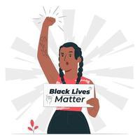 zwart leven kwestie concept