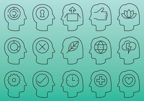 Mensen hoofd iconen