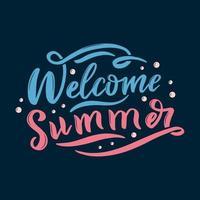 welkom zomer belettering vector