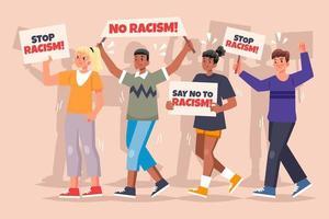 protest tegen racisme concept