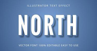 wit met blauw noord teksteffect vector