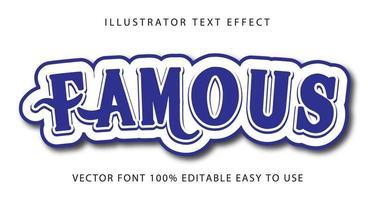 beroemde blauwe swirl teksteffect