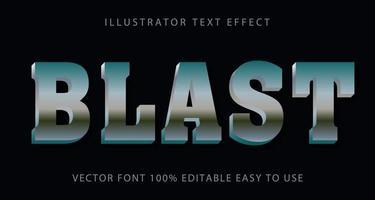 metallic zilver blast teksteffect vector