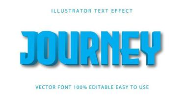 reis hemelsblauw teksteffect vector