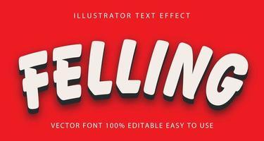 vellen wit, zwart schaduw teksteffect vector