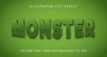 groene curve monster teksteffect