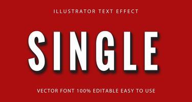 enkel wit, zwart teksteffect vector
