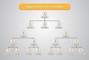 organigram met mensen pictogrammen vector