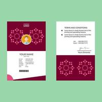 roze elegante identiteitskaart
