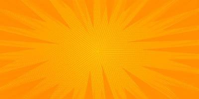 oranje halftoon zonnestraal
