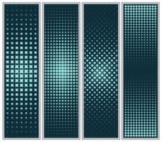 halftoonraster diamant en vierkant patroon set