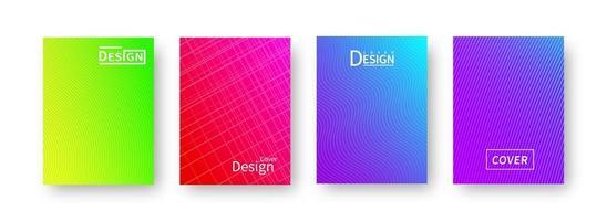 trendy abstract patroon verloop covers