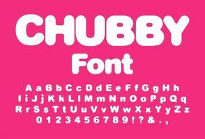 mollig lettertype voor printontwerp vector