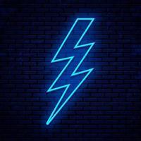 neon bliksem teken vector