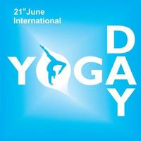 internationale yoga dag blauwe poster