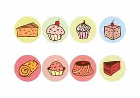 Gratis Rozijnen Cake Vector Set