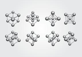 Atomium icon set vector
