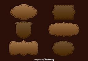 Bruine Etiket Sjabloon Vector