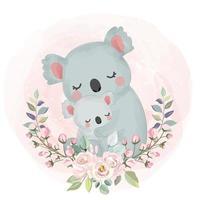 koala moeder en kind vector