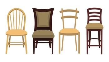houten stoelen op wit