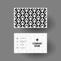 visitekaartje met zwart-wit patroon
