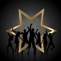 feestmensen met gouden glitter