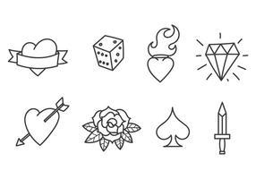Oude School Tattoo Vectoren
