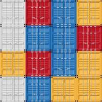 vrachtcontainerset vector