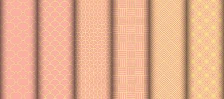 set van geometrische vorm naadloze patronen vector