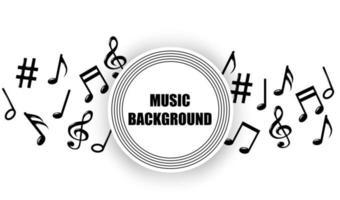 abstracte muziek merkt melodie achtergrond vector