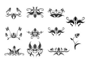 Bloemen Ornamenten Vector Pack