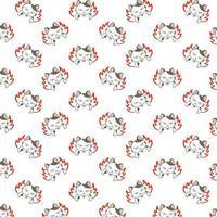 patroon van beeldverhaal het boze katten