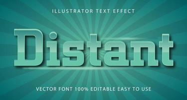 afstand groen glanzend teksteffect vector