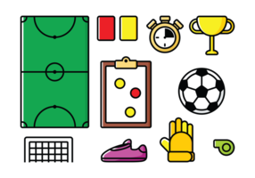 Vector Futsal Pictogrammen