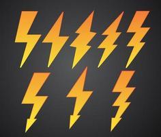 bliksem symbolen collectie vector