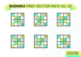 Sudoku Gratis Vector Pack Vol. 32