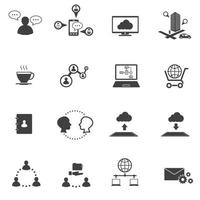 big data iconen vector