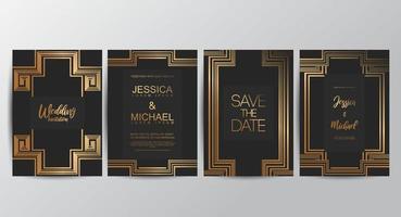 vip luxe bruiloft uitnodigingskaarten vector