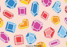 Kleurrijk Edelsteenpatroon vector