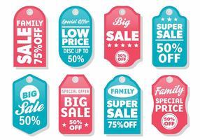 Gratis moderne label verkoop vector