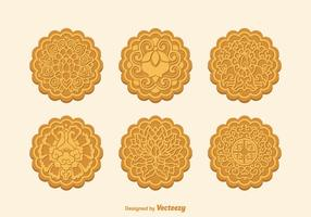 Gratis Vector Mooncake Set