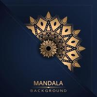 mandala achtergrond met gouden kleur vector
