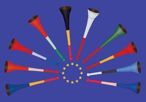 Gratis Vuvuzela Pictogrammen vector
