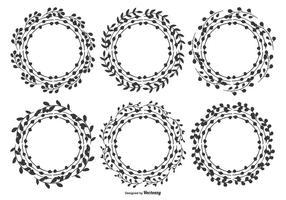 Leuke Hand Getekende Blad Frames vector